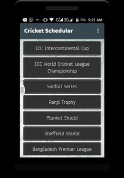 Live cricket schedule 2017 screenshot 2