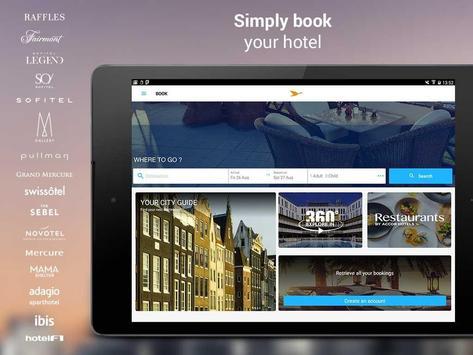 AccorHotels - Reserva de hotéis apk imagem de tela
