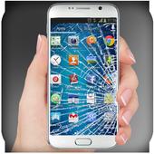 Crack screen: Broken screen icon