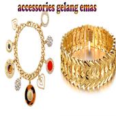 accessories gelang emas icon
