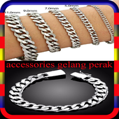 accessories gelang perak icon