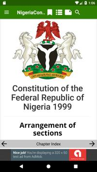 1999 Constitution of Nigeria poster