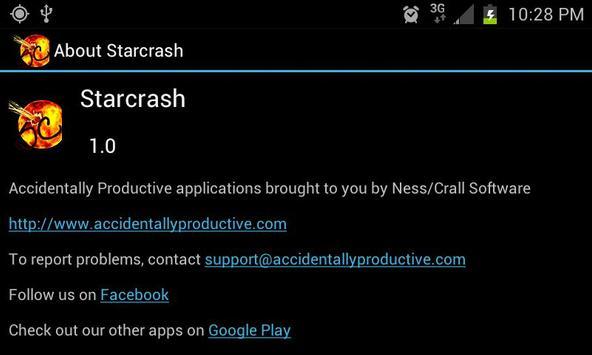 Starcrash Live Wallpaper apk screenshot