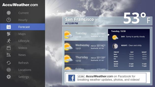 AccuWeather For Sony Google TV APK Download Free Weather APP For - Free accuweather
