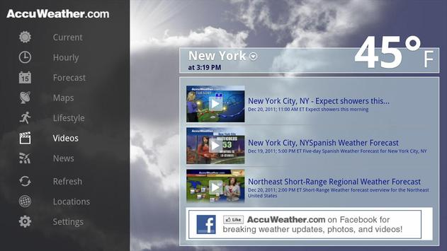 AccuWeather for Sony Google TV apk screenshot
