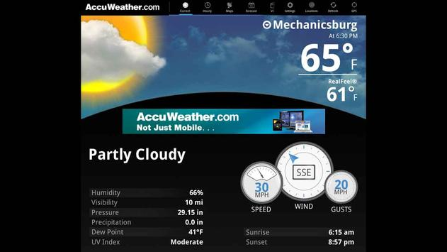 AccuWeather for Sony Tablet P poster