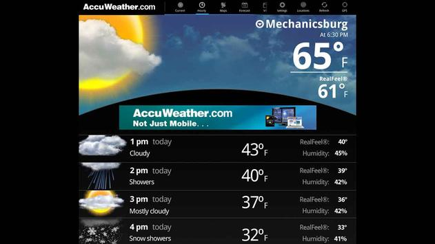 AccuWeather for Sony Tablet P apk screenshot