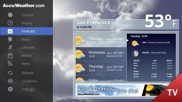 AccuWeather for Google TV apk screenshot