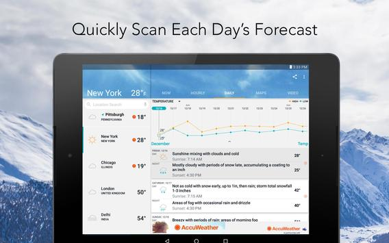 AccuWeather - mapas do clima e rastreador do tempo apk imagem de tela