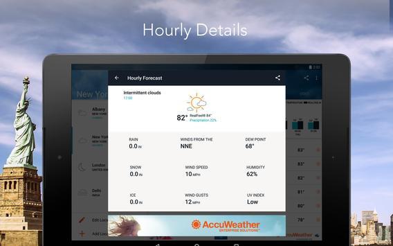 AccuWeather - Alertas e relatórios do clima local apk imagem de tela