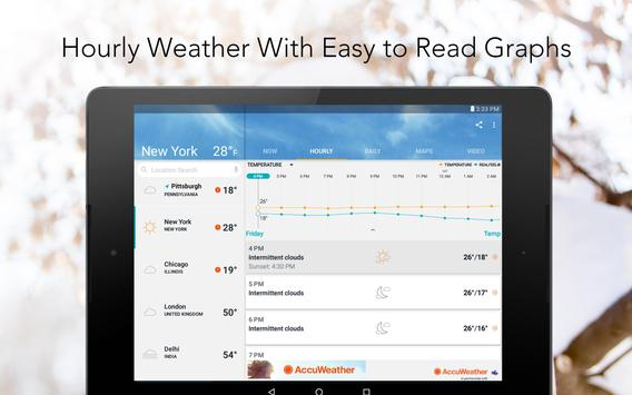 AccuWeather - mapas do clima e rastreador do tempo apk imagem de tela