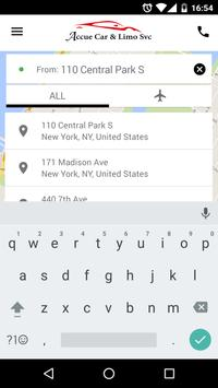 Accue Car & Limo Service screenshot 3