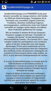 AcademieDeVoyage.ca screenshot 2