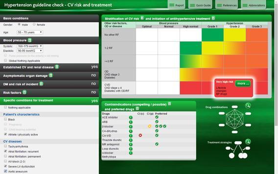 Hypertension guideline check screenshot 5