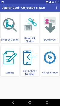 Correction App for Aadhar Card poster
