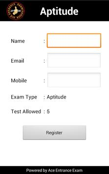 APTITUDE / PLACEMENT MOCK TEST screenshot 1
