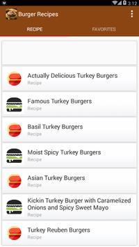 Burger Recipes App screenshot 1