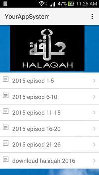 HALAQAH 2015 poster