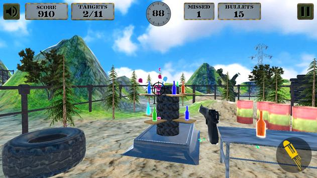 3d Bottle Shooting Gun Game screenshot 1