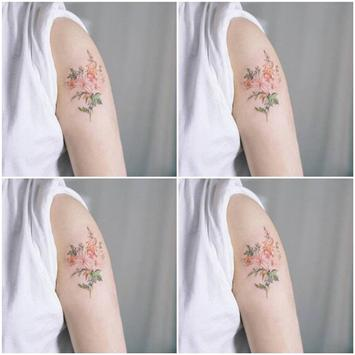 Girly Flower Tattoo Idea and Tips poster