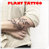 Girly Plant Tattoo Idea for Woman icon