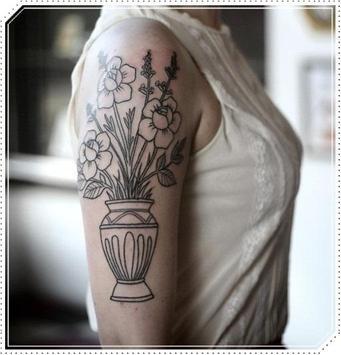 Girly Plant Tattoo Idea for Woman screenshot 3