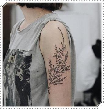 Girly Plant Tattoo Idea for Woman poster