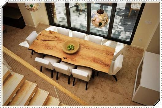 Unique Wooden Table for Dining Room poster