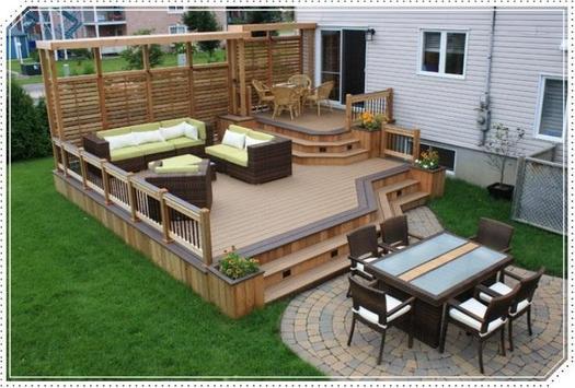 Wood Decking Outdoor Design poster