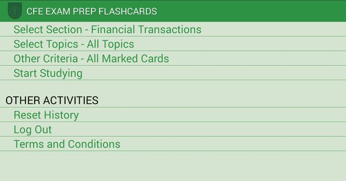 CFE Exam Prep Flashcards poster