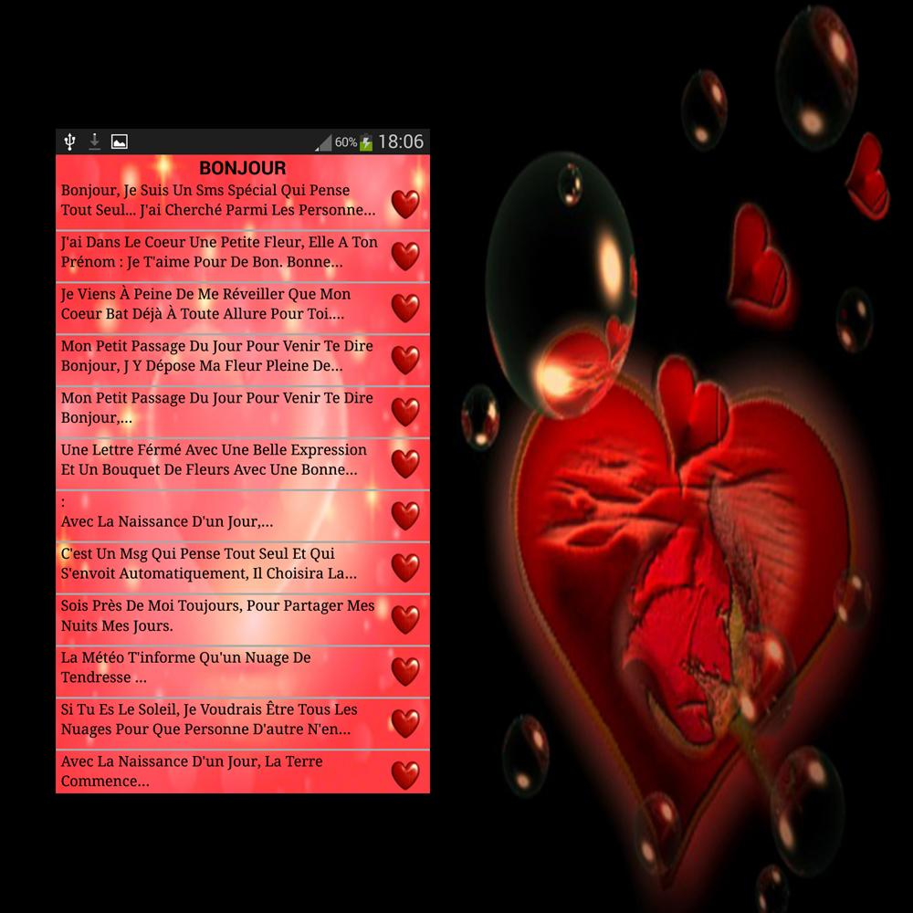 Sms Et Phrases Damour Citations Damour For Android Apk