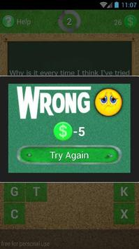 Quiz of One Direction Songs apk screenshot