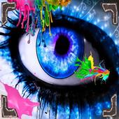 Eye make-up icon