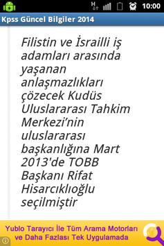 KPSS Güncel Bilgiler 2014 screenshot 2
