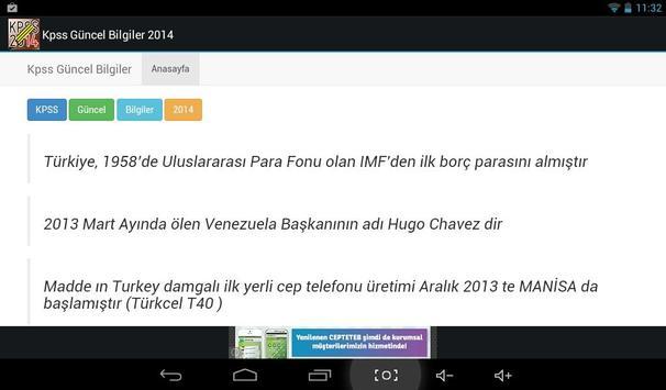 KPSS Güncel Bilgiler 2014 screenshot 3
