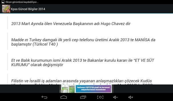 KPSS Güncel Bilgiler 2014 screenshot 4
