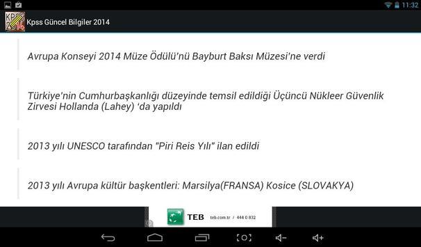 KPSS Güncel Bilgiler 2014 screenshot 5