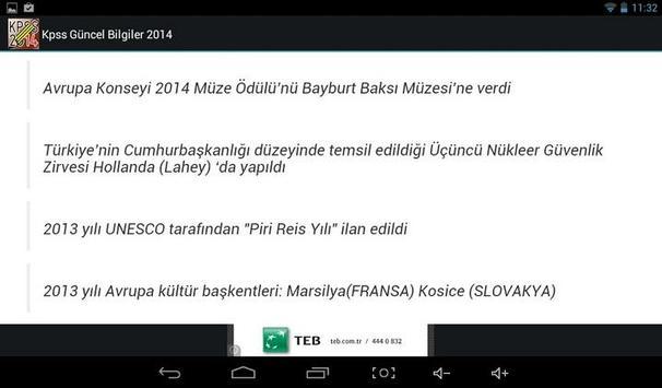 KPSS Güncel Bilgiler 2014 screenshot 6