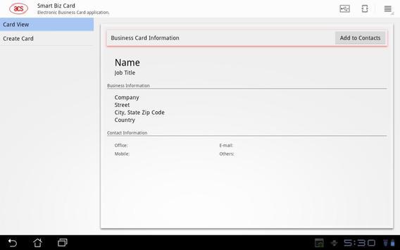 ACS-Smart Biz Card apk screenshot