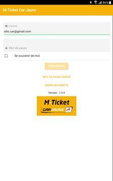 M-Ticket Car Jaune poster
