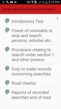 Know About Police and Criminal Evidence Act 1984 screenshot 1