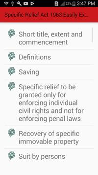 Specific Relief Act 1963 Easily Explained Guide screenshot 1