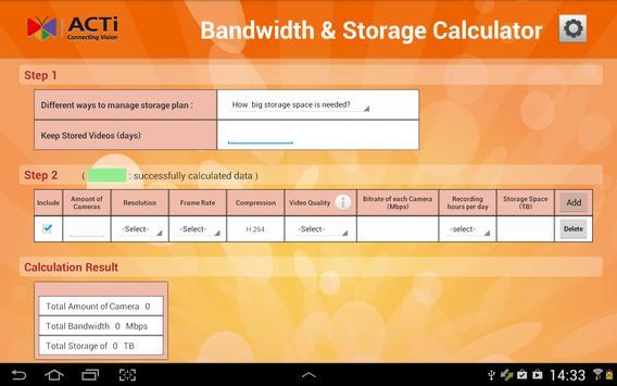 Acti Bandwidth Storage Calc Apk Baixar Gr Tis