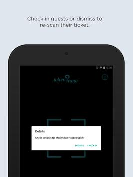 WhenNow Ticket Scanner apk screenshot