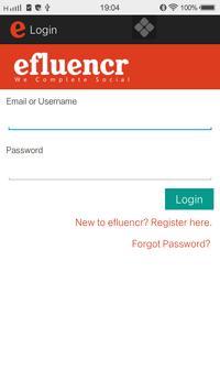 Efluencr screenshot 1