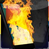 Fire Screen Burning icon