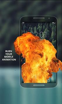 Fire Screen Burning poster