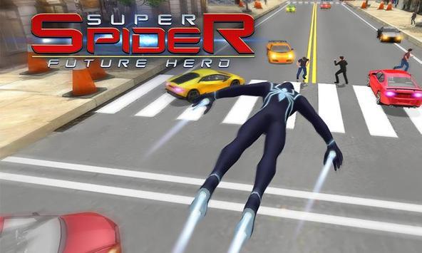 Poster Spider combattendo la battaglia contro il crimine