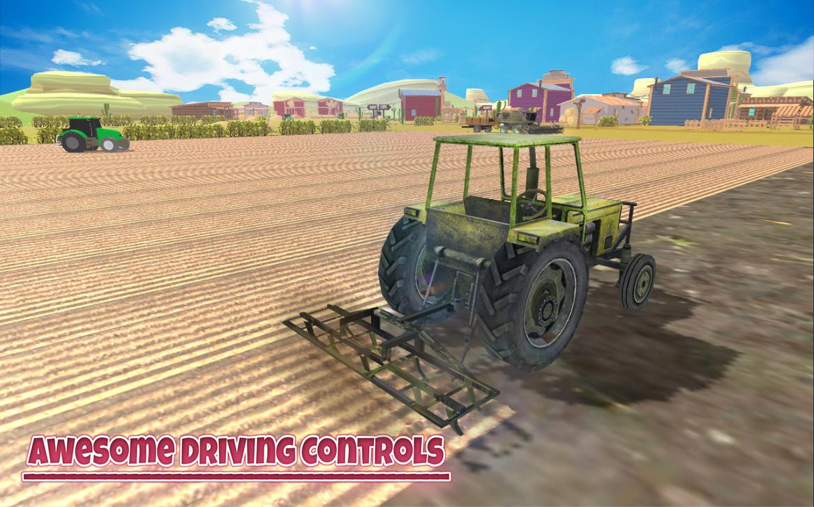 Real Tractor Farming Simulator 18 Harvesting Game for