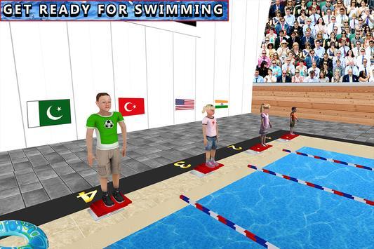 Campeonato de natación acuática para niños Poster